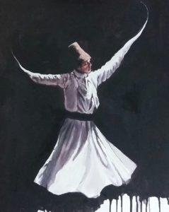 Imad Alfil: Tanzender Sufi, http://www.imad-alfil.de